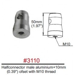 3110 Halfconnector male ofset with M10 thread