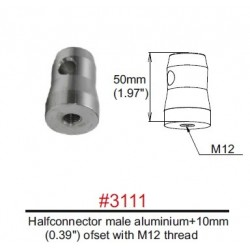 3111 Halfconnector male M12