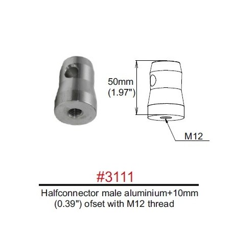 3111 Halfconnector male M12