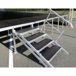 Adjustable 4-step Folding Stairs